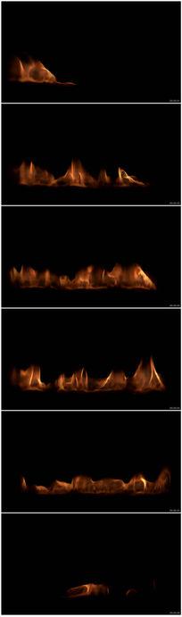 火苗上升火焰背景LED素材熊熊大火