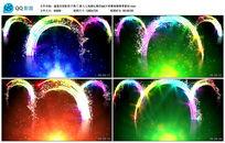 彩虹粒子拱门婚礼led大屏幕视频背景素材