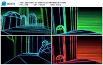 超炫动感光线城市MIX酒吧舞台LED大屏幕视频
