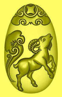 精品十二生肖精雕模板图片下载 精雕生肖 羊
