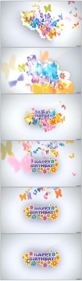生日舞台背景视频