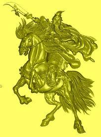 精品关公精雕模板图片下载精雕关公骑马