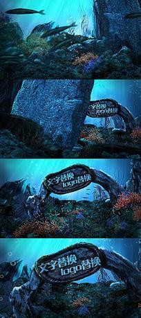 海底世界游乐园字幕动画AE模板