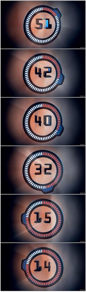 60秒倒计时视频素材