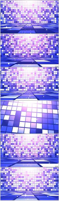 梦幻动感紫色迷幻特效视频素材