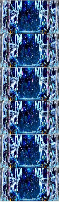 梦幻仙境森系婚礼大屏幕LED素材