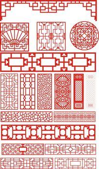 中式镂空雕刻图模板