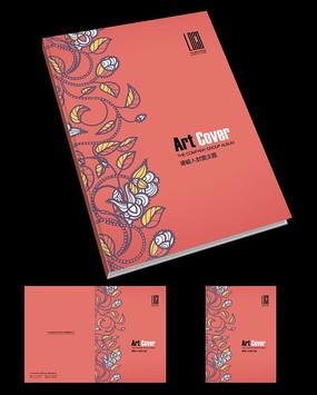 抽象花纹艺术封面设计