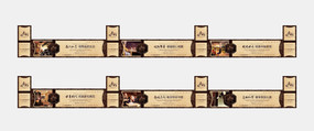 欧式奢华地产围墙广告设计