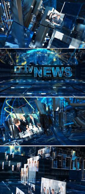 电视广播新闻栏目包装AE模板