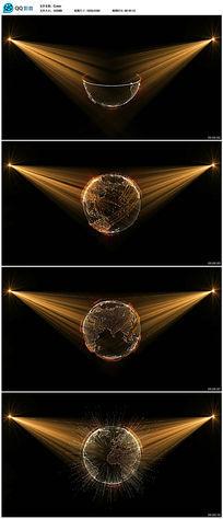 全息投影地球展示视频素材