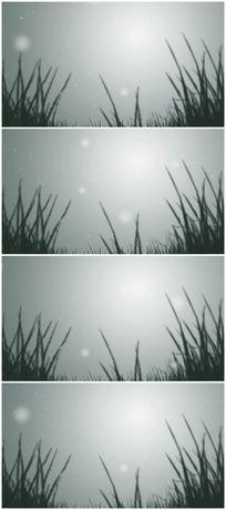雪花飘落到小草上视频素材