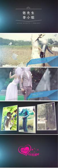 热门时尚大方浪漫婚庆婚礼开场片头AE模板