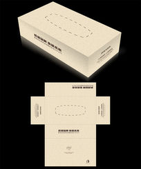 欧式花纹底纹抽纸盒设计