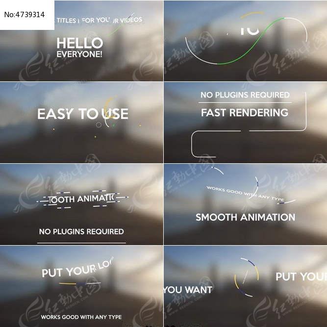 清新简洁的标题动画合辑AE模板图片
