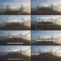 清新简洁的标题动画合辑AE模板