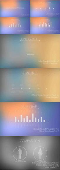 现代简约图形元素动画集AE模板