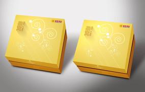 黄色高端燕窝礼盒设计