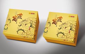 金色大气燕窝礼盒模板