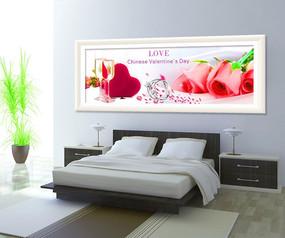浪漫玫瑰时尚无框装饰画模板