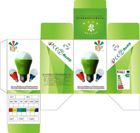 绿色灯泡包装盒设计