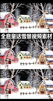全息童话雪景视频素材