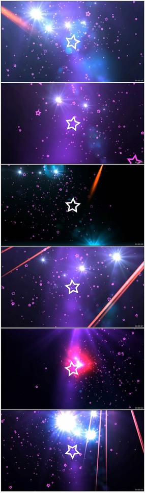 闪耀炫酷五角星音乐空间LED背景视频素材