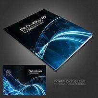 蓝色动感科技背景画册设计