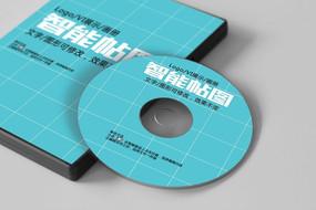 光盘盒光盘盘面VI场景智能贴图模板