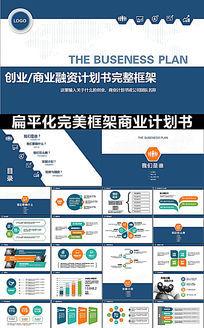 蓝色严谨框架完整创业/商业计划书PPT