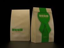 牛皮纸食品包装袋VI场景智能贴图模板