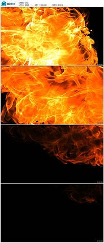 火焰喷发火苗带透明通道高清视频素材