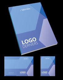 几何图形标书封面设计