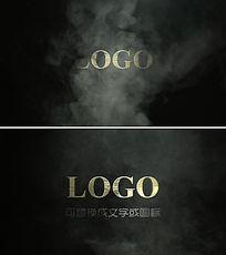 震撼烟雾效果logo片头ae模板