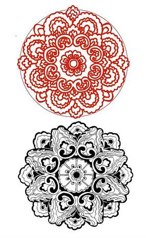 团花纹样图案