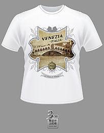 大气金色威尼斯主题文化衫