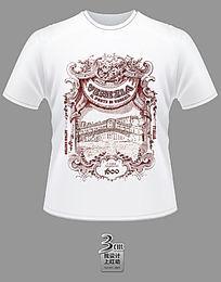欧式花纹威尼斯主题文化衫