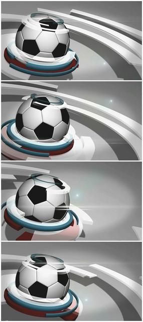 足球体育新闻栏目视频素材