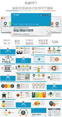 企业融资路演商业创业计划书PPT模板