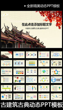 中国风古建筑房地产PPT模板