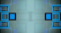 蓝色长短方框慢速浮动