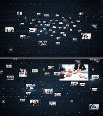 多照片汇聚成LOGO标志演绎AE模板
