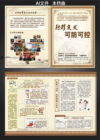 古典水墨中医宣传折页设计