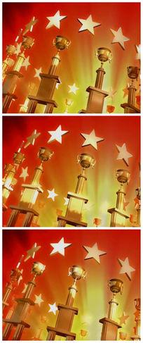 奖状奖杯颁奖盛典视频素材