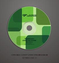 绿色环保宣传光盘贴纸设计