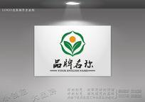 生态环保科技标志 绿色生态农业logo