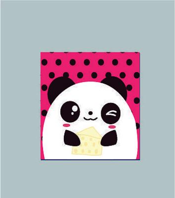 爱吃蛋糕的熊猫卡通本子图案设计