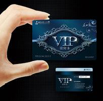 创意花纹背景vip会员卡|奢华尊贵美容vip钻石卡