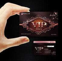 高端质感汽车vip钻石卡|创意花纹背景vip会员卡