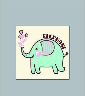 可愛卡通大象